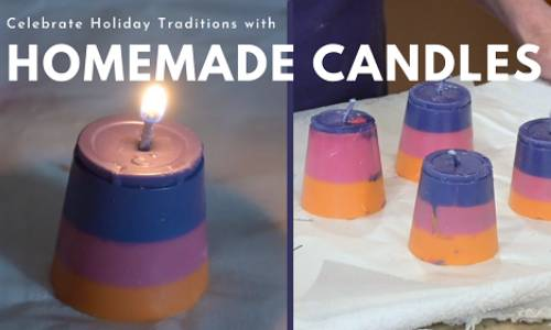 Make Homemade Candles with Crayons!